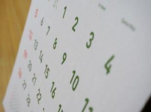 年間カレンダーのイメージ